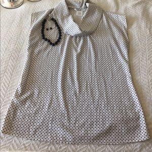Black and White Polka Dot Shell